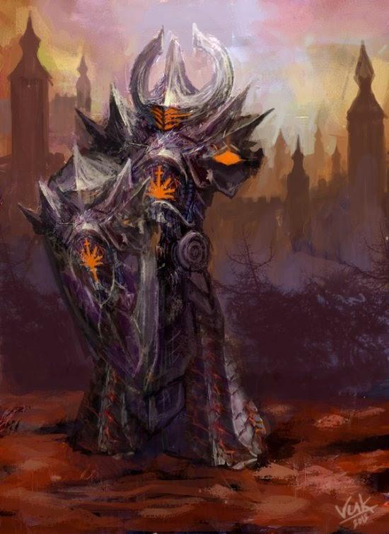 Vuk Kostic chevsy deviantart ilustrações fantasia sombrias monstros guerreiros
