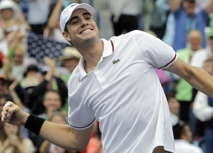 Tennis playet John Isner of USA