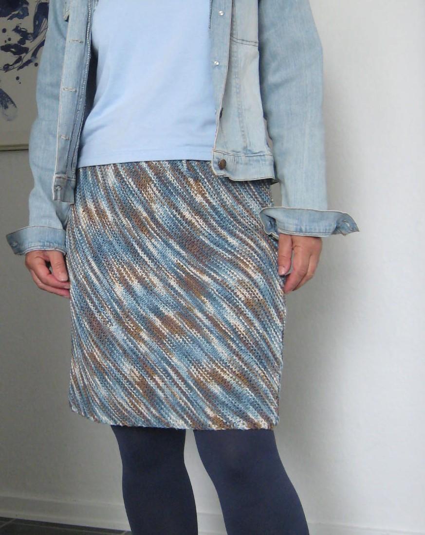 nederdel i strik