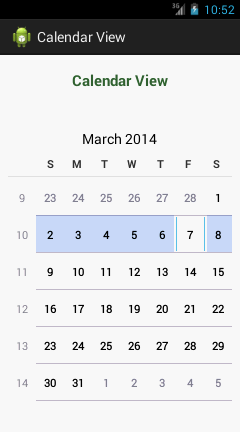 how to create a calendar application in android