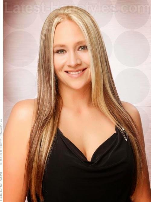rambut panjang untuk wajah bulat  Model Rambut Pendek Panjang Wanita