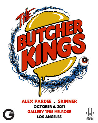 The Butcher Kings Art Show by Alex Pardee and Skinner at Gallery1988 Melrose