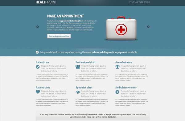 Health Point – Responsive WordPress Landing Page