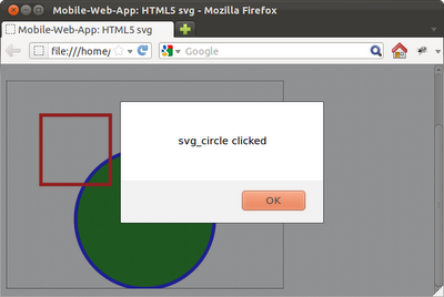 Detect click event on svg objects