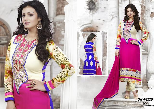 Ayesha Takia Embroidered Salwar Kameez Suit