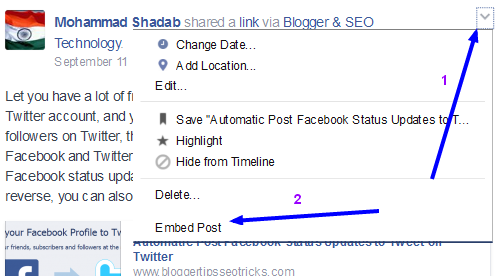 embed post on facebook