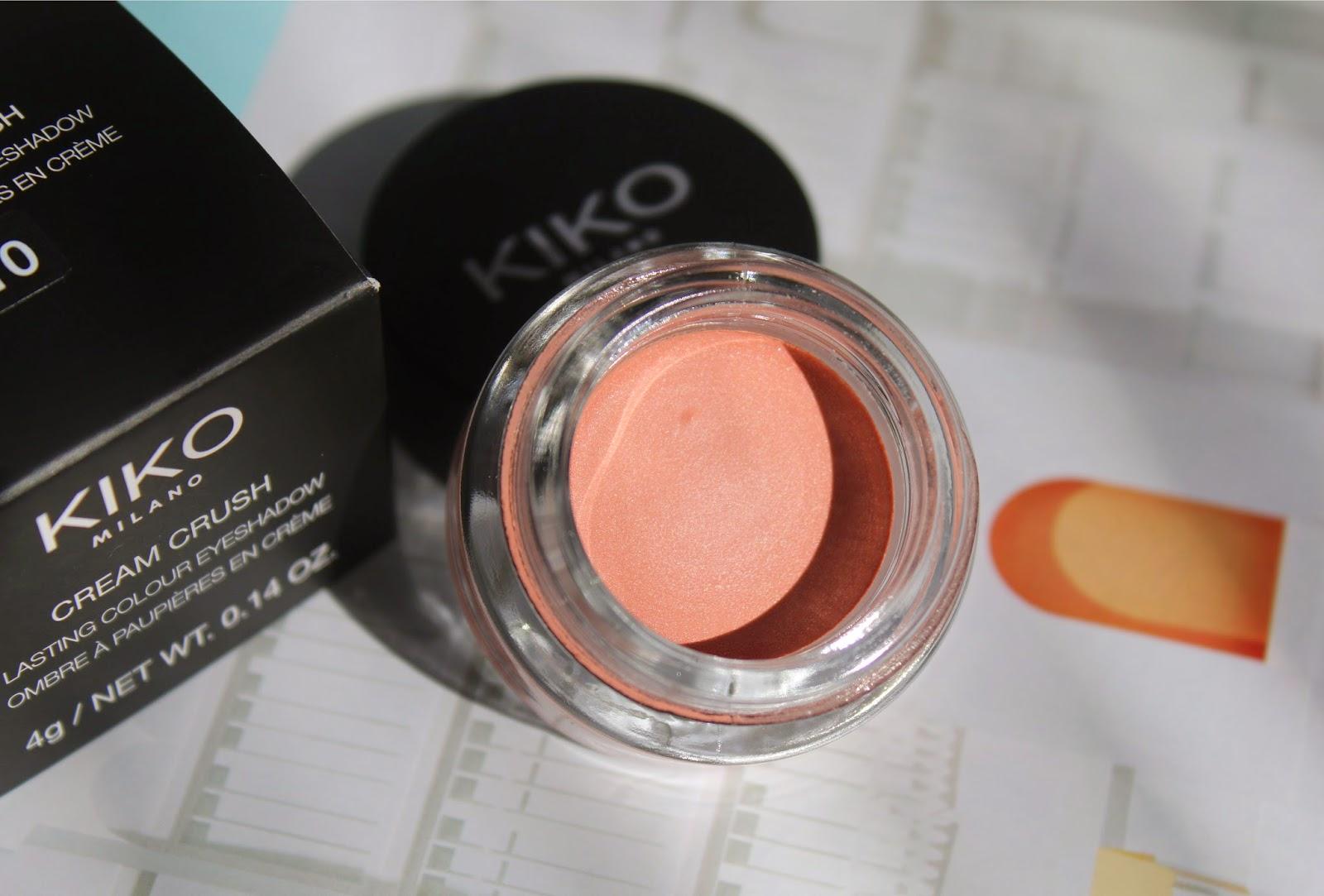 персиковые кремовые тени для век