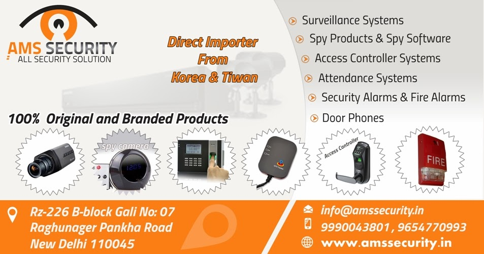 CCTV Camera, Spy Products, Video Door Phone, Door Lock Dealer in delhi india.