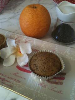 arancio e semi di papavero