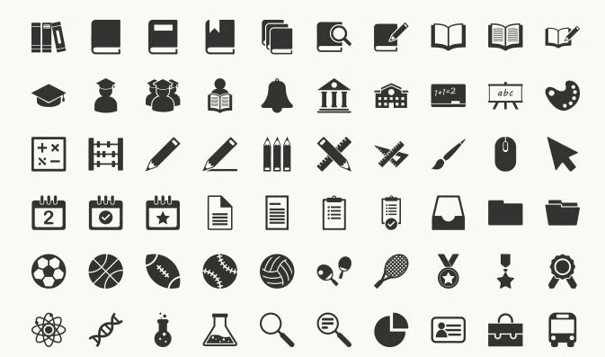 Free Education Vector Icons (AI, EPS, PNG)
