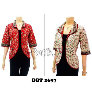 DBT2697 Model Baju Blouse Batik Modern Terbaru 2013