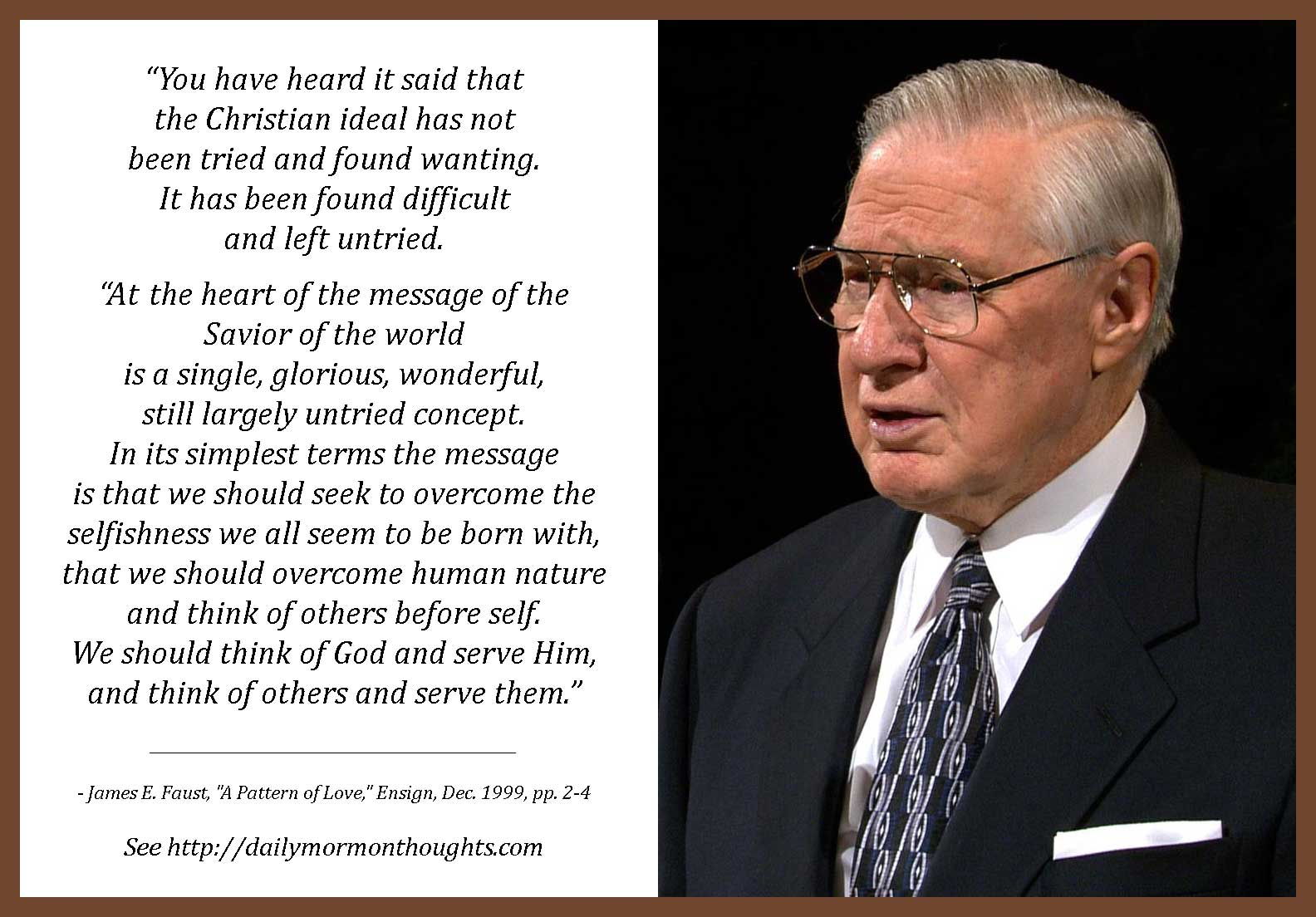 Daily Thought from LDS Leaders: James E. Faust on the Christmas ...