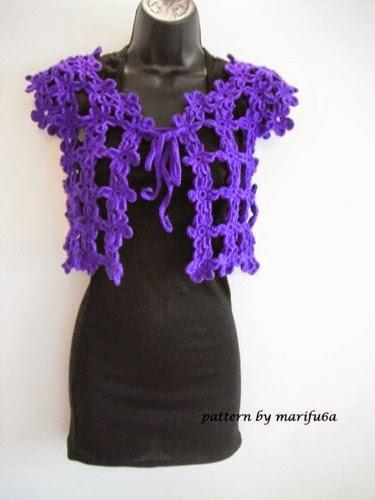 Crochet Flower Shrug Pattern : Free crochet patterns and video tutorials: how to crochet ...