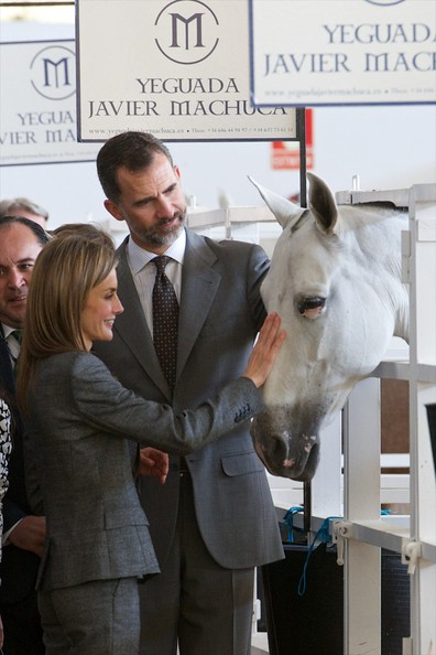 King Felipe and Queen Letizia of Spain attend International Cattle Fair in Zafra Spain