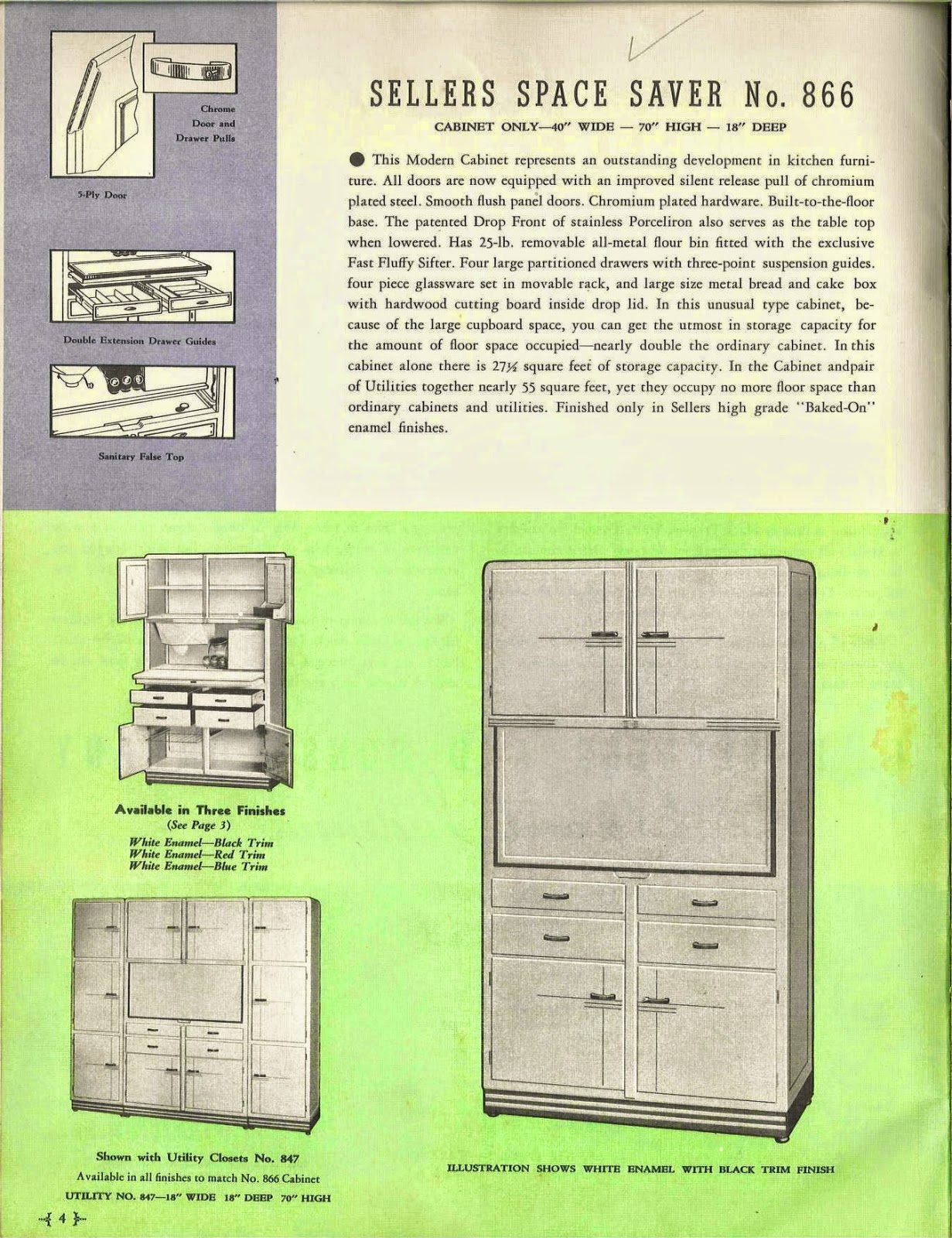 Sellers Kitchen Cabinet Sellers Kitchen Furniture For 1939 Art Deco And Art Moderne