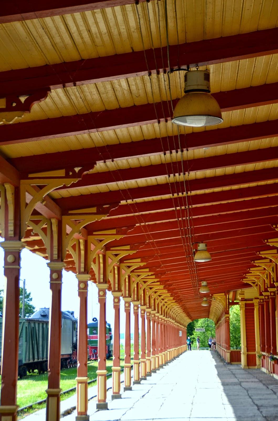 old railway station train haapsalu