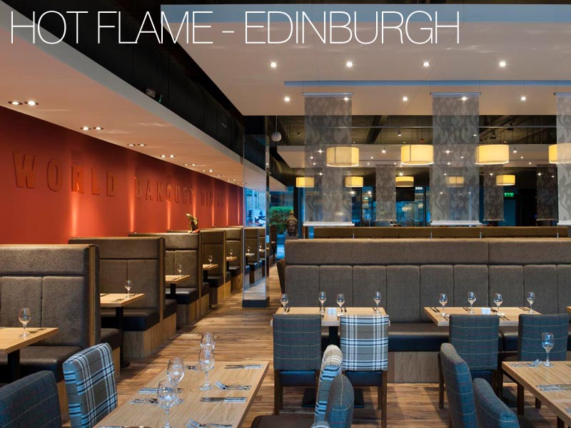 hot flame world buffet seating area