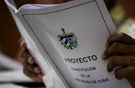 Proyecto de Constitución de República de Cuba