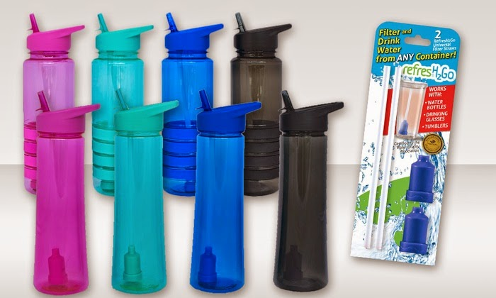 RefresH2Go Water Bottles- filter water on the go as you drink!