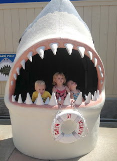 Shark with 3 kids 2