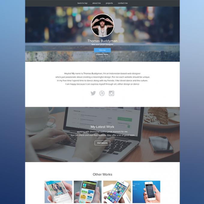 Free PSD Personal/Portfolio Website Template