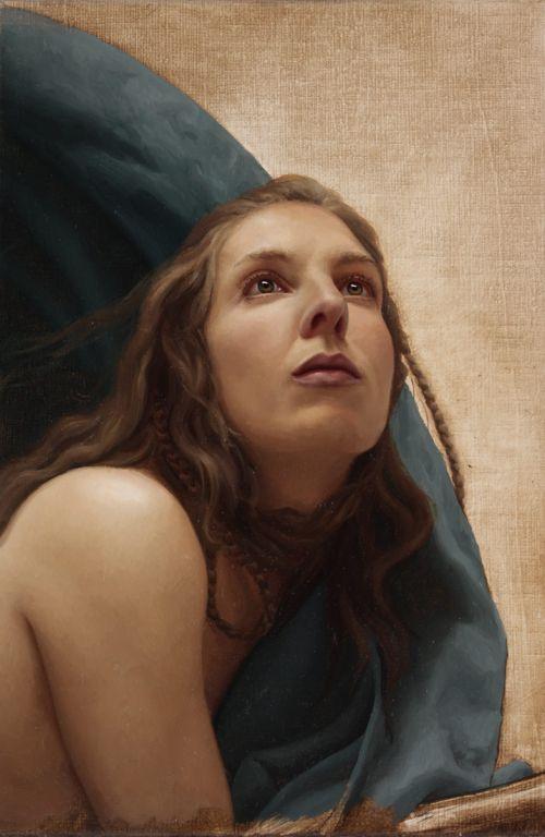 Arantza Martinez pinturas hiper-realistas surreais nudez