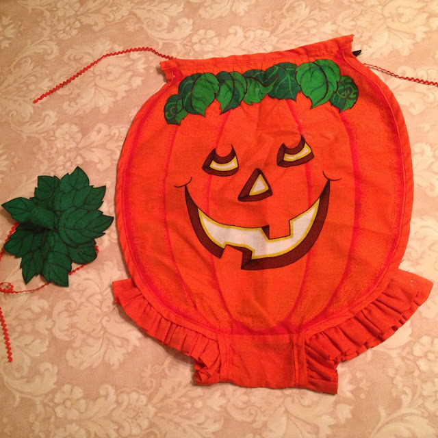 vintage Halloween, Vintage Halloween Costume, pumpkin costume