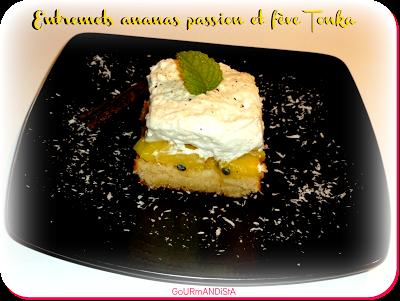 Image Entremets ananas passion et fève tonka