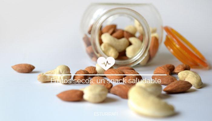 Frutos secos, snack saludable, cantidad recomendada