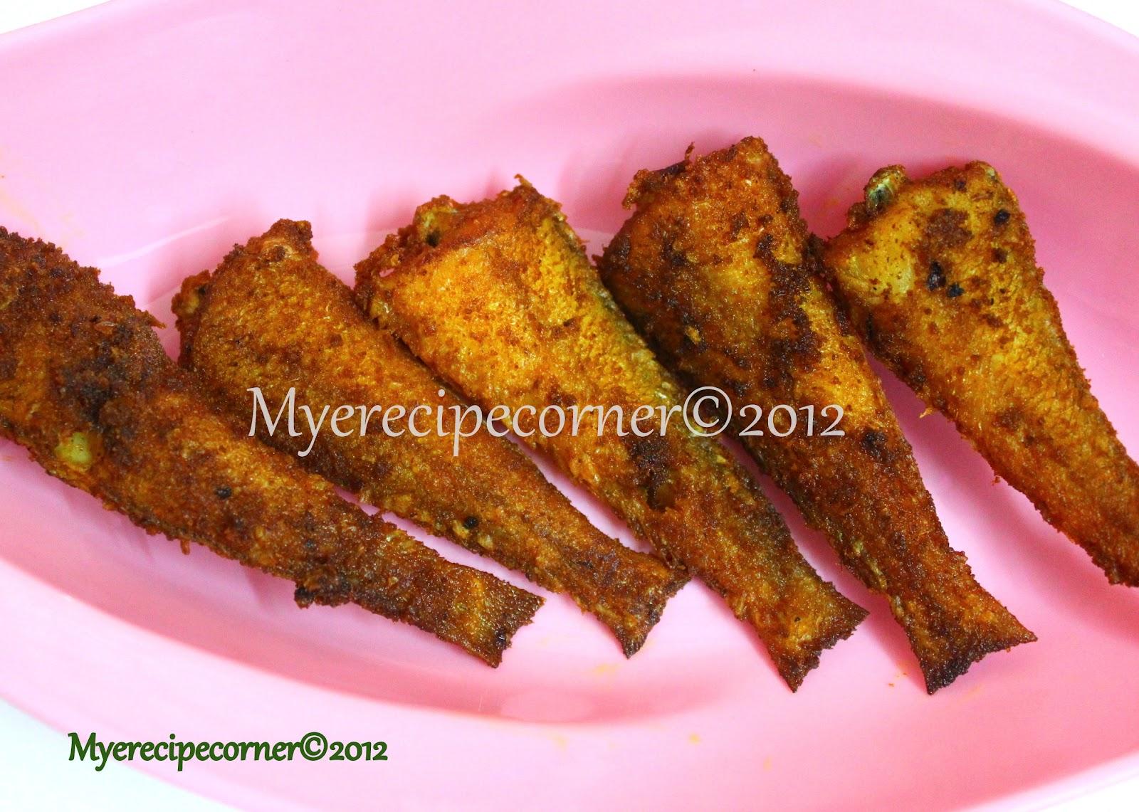 Mye 39 s kitchen kilangan fish fry kizhanga meen varuval for Cliffords fish fry