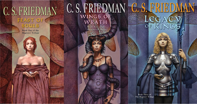 Book Covers of the Magister Trilogy by C. S. Friedman