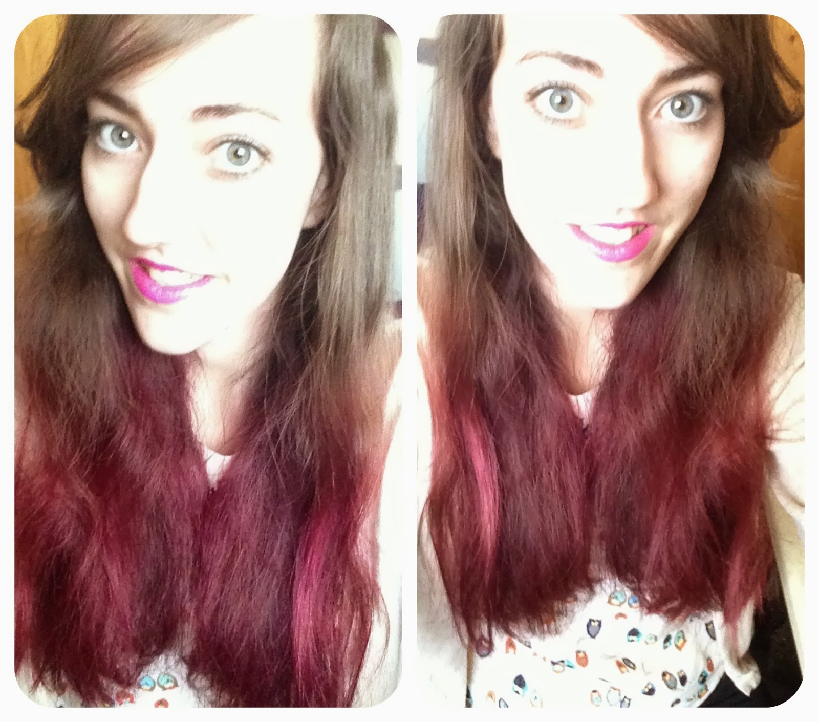Red Purple Ombre Hair Purple ombr� hair