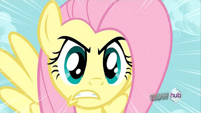 Fluttershy tries to use The Stare on Discord