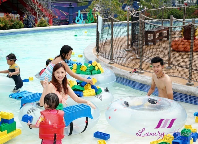 legoland malaysia resort water park build raft river