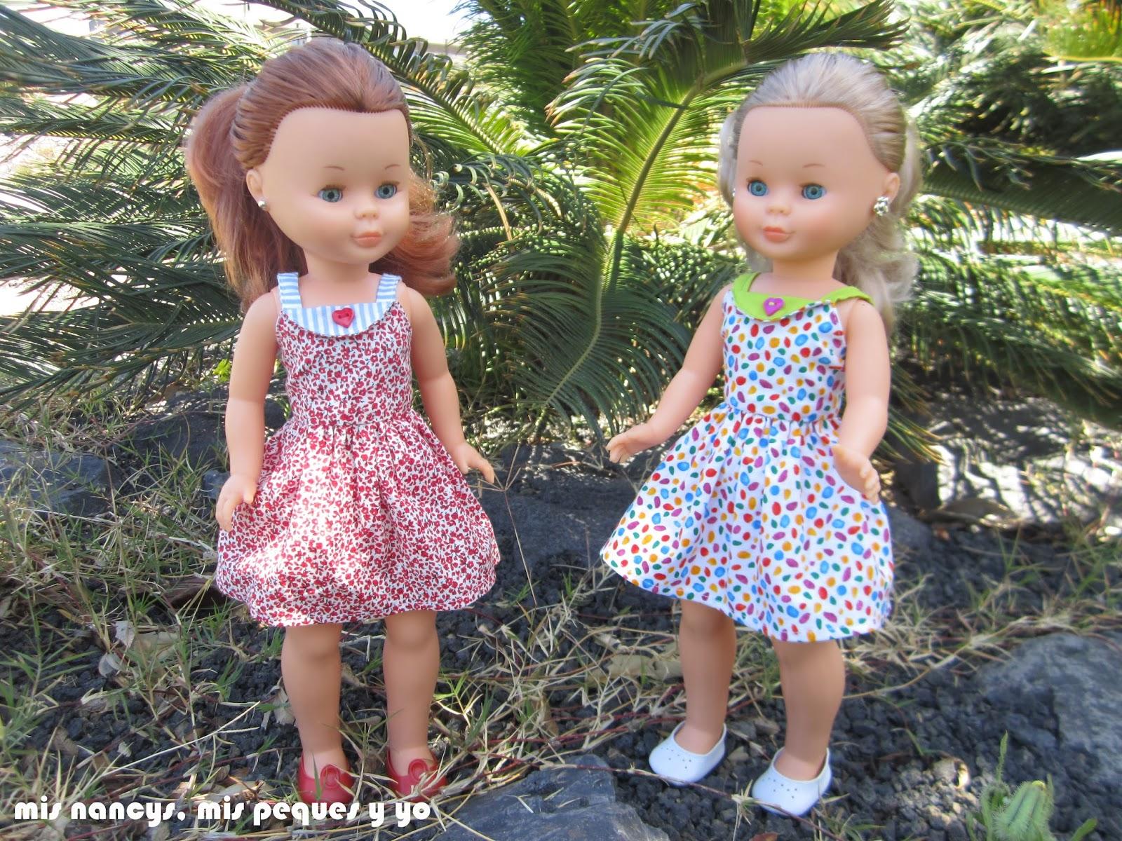 mis nancys, mis peques y yo, vestidos primavera para nancy de anilegra, paseando por el campo