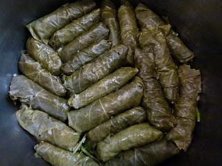 Ägyptische Rezepte Gefüllte Weinblätter - Maschi Wara Ainab