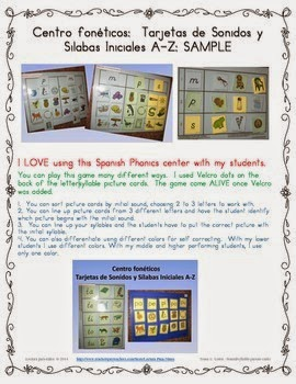 http://www.teacherspayteachers.com/Product/FREE-Sample-Inicial-soundsyllable-Phonics-Center-in-Spanish-1322004