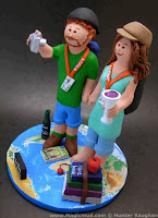 backpackers wedding cake topper