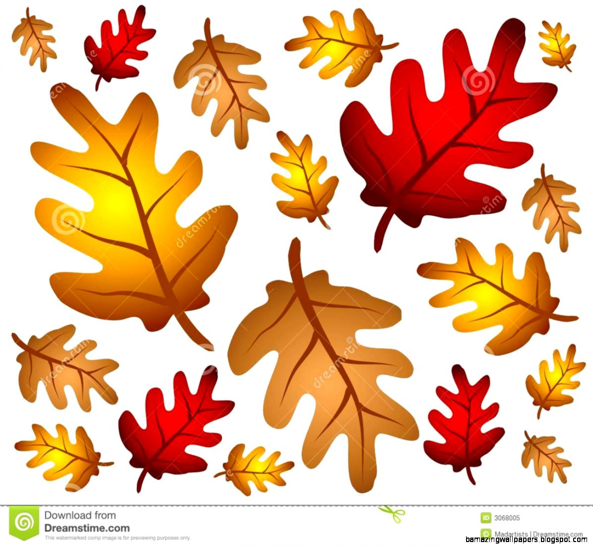 Autumn Oak Leaves Background Royalty Free Stock Photo   Image 3068005