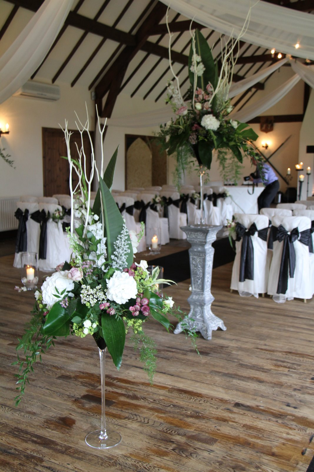 Flower design wedding ceremony styling giant martini vases on fabulous ceremony setting tall elegant martini vases used on pedestals during the service and to line the bridal walk way after the ceremony these designs reviewsmspy