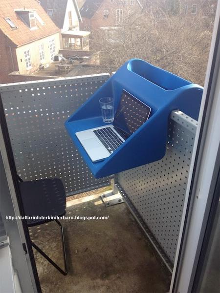 meja balkon unik