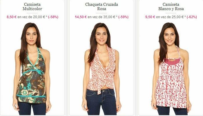 Camisetas baratas para mujer