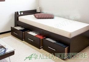 Tempat tidur minimalis model laci dibawah