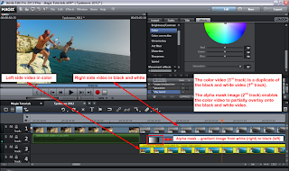 Alpha Mask Video Editing in Magix Movie Edit Pro