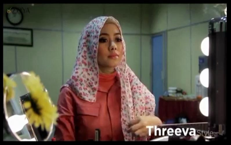 empat silahkan ikuti langkah langkah hijab style threeva dibawah ini