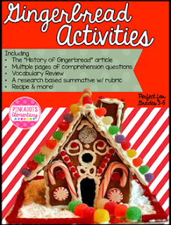 https://www.teacherspayteachers.com/Product/Holiday-Traditions-History-of-Gingerbread-ELA-mini-unit-Research-Project-1581751