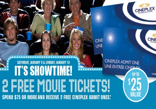 Shoppers Drug Mart Free Cineplex Entertainment Movie Tickets