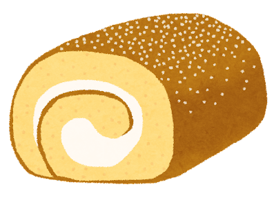 ロールケーキのイラスト
