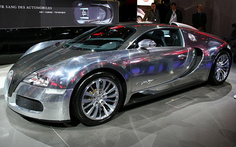 Bugatti Veyron Silver Cool Car Wallpapers