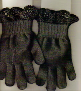 Glove edging- crocheted